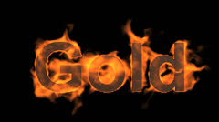Fire gold word. Stock Footage