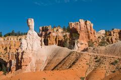 Red pinnacles (hoodoos) of bryce canyon, utah, usa Stock Photos