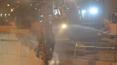 Demolition Grapple 02 Stock Footage