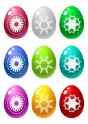 Stock Illustration of set of easter eggs isolated on white background