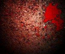 blood on grunge wall - stock illustration