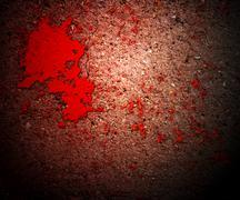 thriller blood on grunge wall - stock illustration