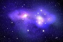 Stock Illustration of colorful space nebula