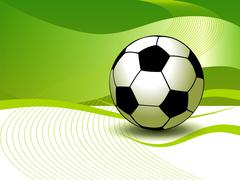 abstract soccer background - stock illustration