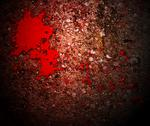 Stock Illustration of horror blood on grunge wall