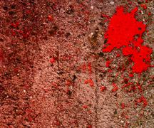 red blood on grunge wall - stock illustration