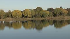 Scenic dam and trees mood shot NTSC Stock Footage