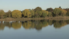Scenic dam and trees mood shot PAL Stock Footage