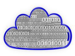 Cloud computing binary pilvi Kuvituskuvat