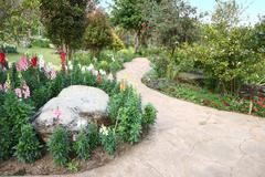 Stock Photo of path walk in garden.