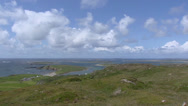 Stock Video Footage of View from sky road at rugged Atlantic coast at Clifden, Connemara, Ireland