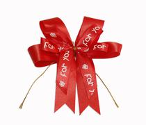 Red fabric bow Stock Photos
