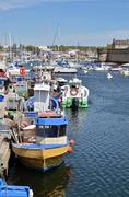 Fishing port of Concarneau in France Stock Photos