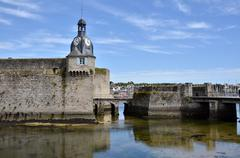 Belfry of Ville Close of Concarneau in France Stock Photos
