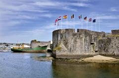 Ville Close of Concarneau in France Stock Photos