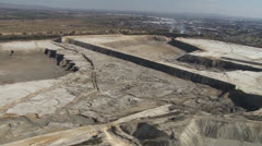 Reclaiming old gold mine dumps PAL - stock footage