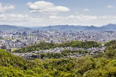 hiroshima and the inland sea, japan - stock photo