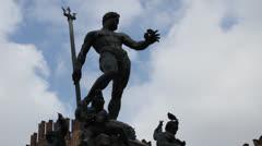 Fountain of Neptune, Bologna Stock Footage