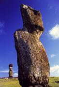 ahu tahai moai easter island - stock photo