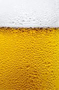 condensation drops on a glass of cold beer - stock photo