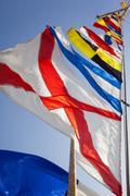 Ship flags Stock Photos