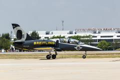 "bangkok - march 23:""breitling jet team under the royal sky"" breitling team an - stock photo"