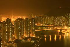cityscape of hongkong - stock photo