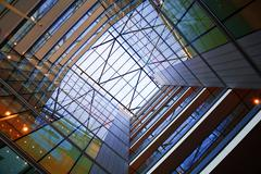 Atrium of modern building Stock Photos