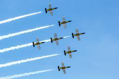"bangkok - march 23:""breitling jet team under the royal sky"" breitling team an - stock photo"