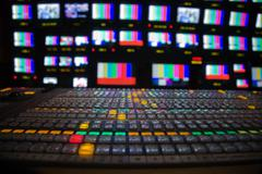 Television broadcast gallery Stock Photos