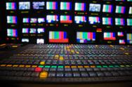 Stock Photo of television broadcast gallery