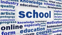 School word clouds animation Stock Footage