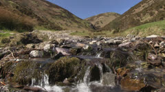 A stream in Carding Mill Valley Stock Footage