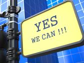 Stock Illustration of Yes We Can - Motivational Slogan on Waymark.