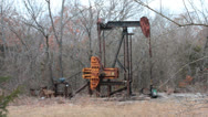 Stock Video Footage of Rusty Oil Pump I