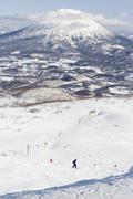 Winter sports at niseko resort, hokkaido, japan Stock Photos