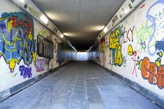 Grungy underpass Stock Photos