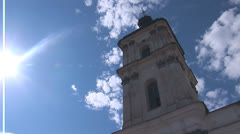 Fortified Carmelite monastery L Stock Footage