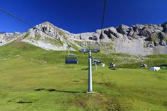 Dolomites with chairlift Stock Photos
