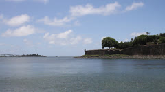 Old San Juan - Fortified Walls - stock footage