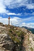 castellazzo peak - vertical composition - stock photo