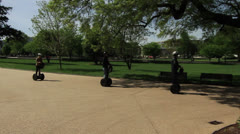 Segways at the Capitol Stock Footage