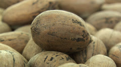 Multiple inshell pecans zoom out 2 Stock Footage