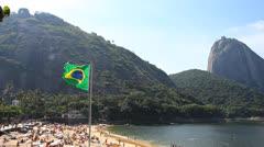 Red beach in Rio de Janeiro Stock Footage