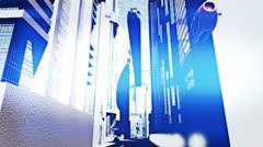 Future City Traffic 3 720 - stock footage