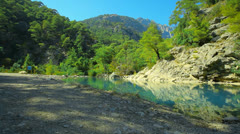 Lake in the mountains Stock Footage