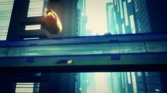 Future City Traffic 5 720 - stock footage