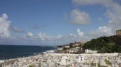Old San Juan Cemetery / La Perla Stock Footage