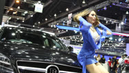 Stock Video Footage of thailand motor show sexy women