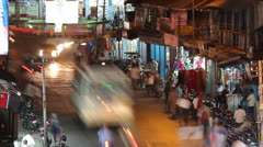 India city night street time lapse Stock Footage